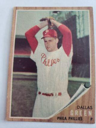 1962 Topps Dallas Green Philadelphia Phillies vintage baseball card