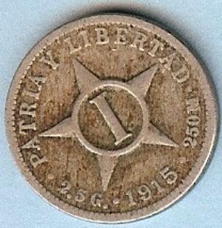 CUBA - 1915 Un Centavo