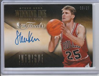 33b7b8d3247 2013-14 Intrigue Basketball CArd Steve Kerr Chicago Bulls Autograph Winning  Ink NBA finals