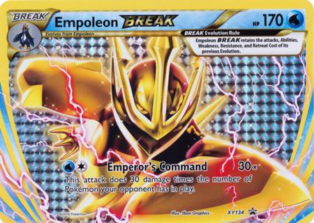 Empoleon Break XY134 - Oversized Promo Pokemon Oversized Cards Pokemon TCG