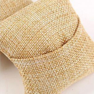 [GIN FOR FREE SHIPPING] 4Pcs Linen Pillow Cushion Bracelet Wrist Watch Jewelry Display