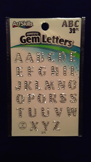 Adhesive Gem Letters