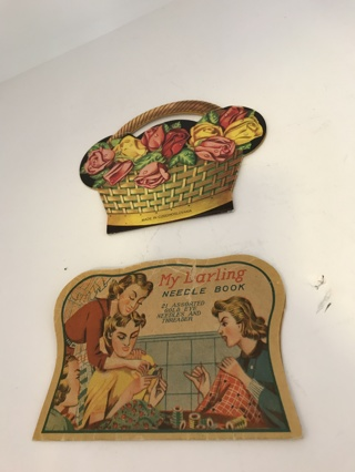 Lot Of Two Vintage Needle Books