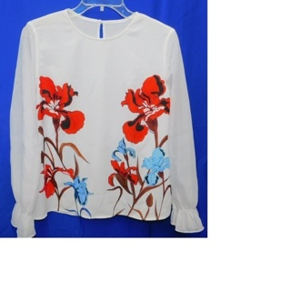 GORGEOUS Blouse Womens S/M By Peace Bird **Must See**