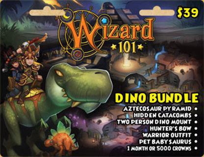 Free: 39$ wizard101 dino bundle - Gift Cards - Listia com