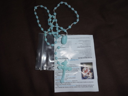 Simple Baby Blue or White Rosary!