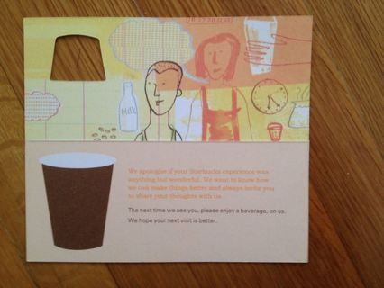 free starbucks free drink coupon other listia com auctions for