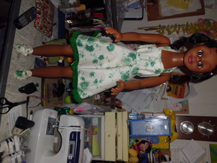 """36"""" doll dress and matching shoes"""