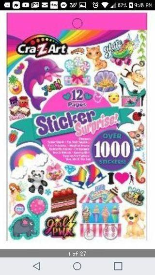 "❤✨❤✨❤️BRAND NEW PINK ""CRA-Z-ART"" STICKER SURPRISE STICKER BOOK❤✨❤✨❤(12 PAGES/OVER 100 STICKERS)#2"