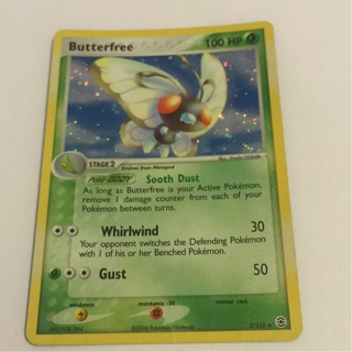 Holo butterfree Pokemon card 2/112 mint condition free delivery