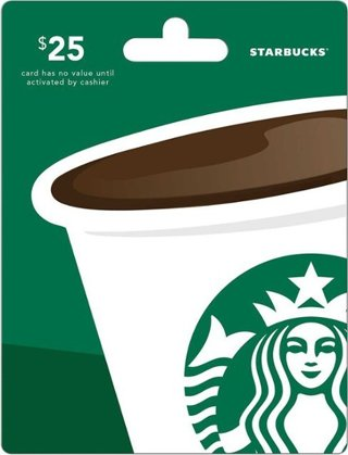 $25 Starbucks Gift Card - Digital Delivery