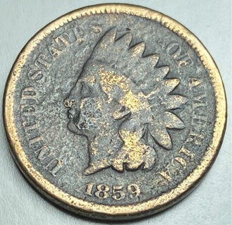 1859 First year Indian Head Cent