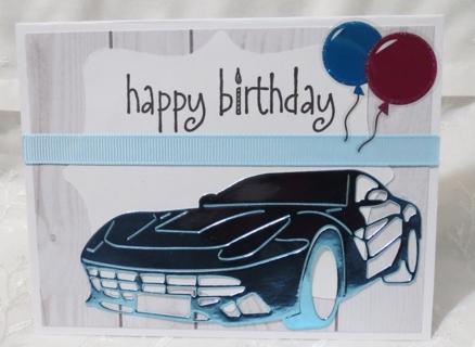 Handmade Birthday Card with Car