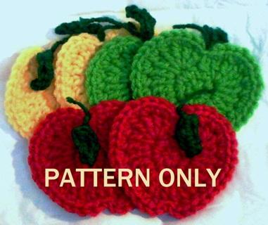 Free Crochet Pattern For Mug Rug : Free: Apple Coasters, Mug Rugs & Hot Pads Crochet Pattern ...