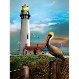 Lighthouse 5D Full Diamond DIY Painting Embroidery Cross Stitch Home Decor