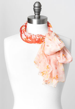 Christopher&Banks Two Tonal Floral Scarf