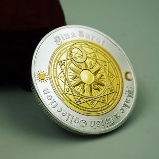 Commemorative Coin Tarot Divination Array Storage Collection Arts Gifts Souvenir