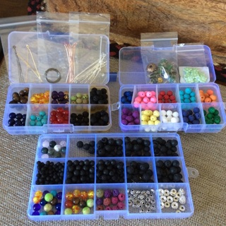 Chakra And Lava Beads Plus More  Boxes Included
