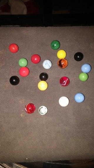 19 antique perri marbles