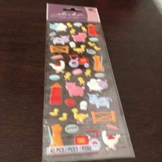 Sticko dimensional farm animal stickers