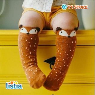1 Pair Unisex Lovely Cute Cartoon Fox Kids baby Socks Knee Girl Boy Baby Toddler Socks animal infant