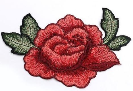 1 NEW Rose Bloom Patch Flower SEW ON PATCH Clothing Accessories
