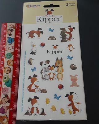 Kipper Sandylion Vintage Sticker set NEW