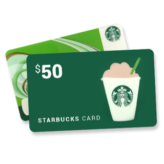$50 Starbucks Gift Card, Low Gin ♥♥♥ Fast Digital Delivery