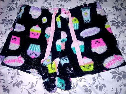 Like New Girls Joe Boxer Cupcake Pajama Shorts