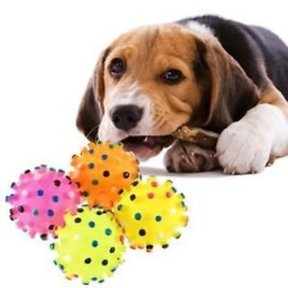 Toys Rubber Squeaky Food For Fun Colorful Training Chew Funny Ball Toy Pet Dog