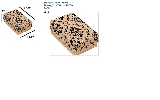 JEWELRY BOXES - Qty 10 - Various Print - POLY-FILLED - Size #11 SMALL - FREE SHPG :D