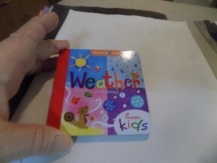 Chick-fil-ah kids meal Hello World Weather Toddler book # 2