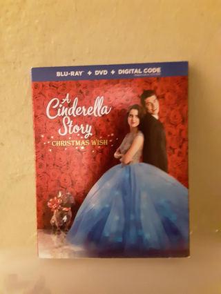 NEW A Cinderella Story Christmas Wish BLU-RAY + DVD + DIGITAL