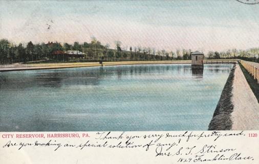 Vintage Used Postcard: 1906 City Reservoir, Harrisburg, PA