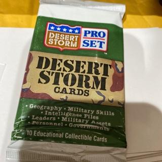 1991 pro set desert storm unopened pack of cards