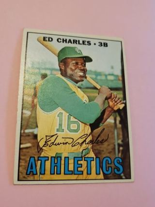 1967 Ed Charles Kansas city Athletics vintage baseball card