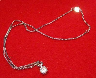 Silver CZ Pendant Necklace