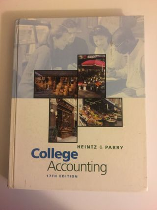College Accounting by Robert W. Parry and James A. Heintz (2001, Hardcover)