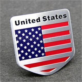 USA US American Flag 3D Car Auto Decor Sticker Badge Emblem Adhesive Aluminium