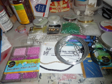One Lot of Jewelry Making Supplies