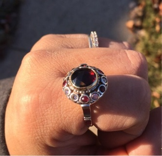 9k & 925 ring-~ ONE OF A kINd!!