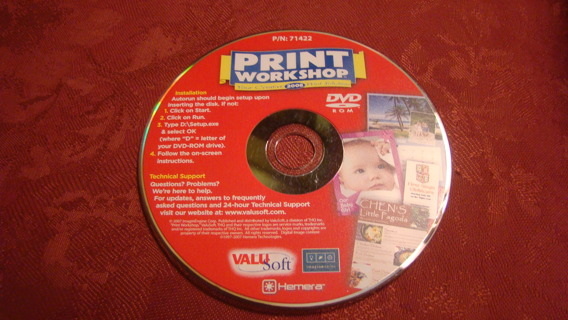 print work shop dvd