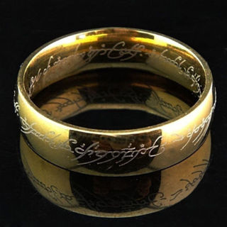 Lord of the Rings The One Ring Power Gold & Silver Plated Stainless Steel