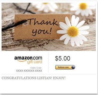 AMAZON E GIFT OR GIFT CARD