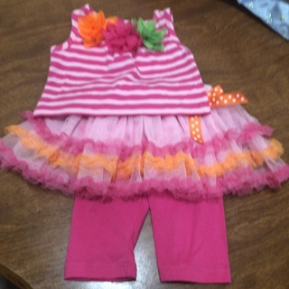 New no tag Bonnie baby outfit size 3/6 months