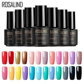 ROSALIND Nail Gel Polish 7ML 58 Fresh Colors Soak Off UV Hybrid Gel Nail Polish Set For Nail Art M