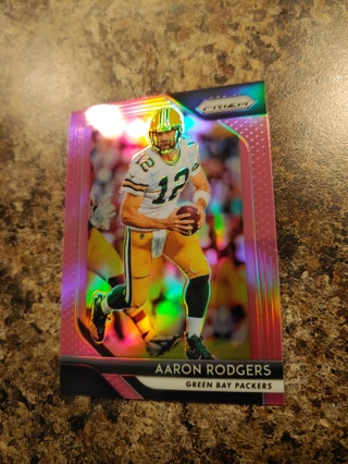 2018 Panini Prizm Aaron Rodgers Pink Alternate Green Bay Packers