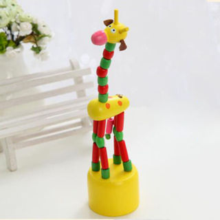 Funny Baby Kids Intellectual Developmental Educational Wooden Giraffe Toy Gift