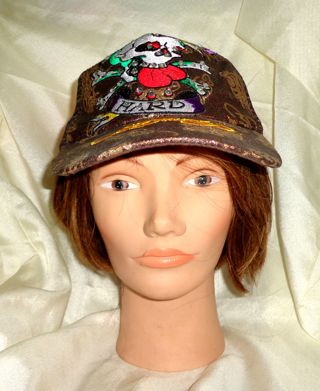 NEW - ED HARDY BROWN *LOVE DIES HARD* BASEBALL HAT - ONE SIZE FITS ALL