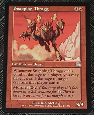 MTG Snapping Thragg Onslaught Magic the Gathering trading card (2002)